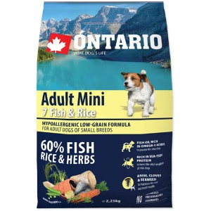 Ontario adult mini 7fish & rice 2,25kg