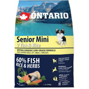 Ontario senior mini 7fish & rice 750g