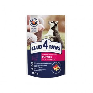 CLUB 4 PAWS PUPPIES WITH CHICKEN  100G